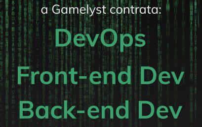 Vagas: Desenvolvedores na Gamelyst