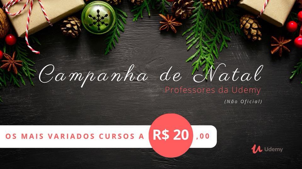 Promoção de Natal – Diversos Cursos Online por R$20