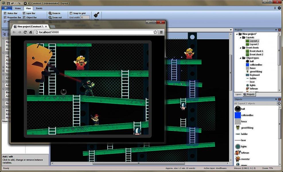Construct 2: Guia de utilização para criação de jogos